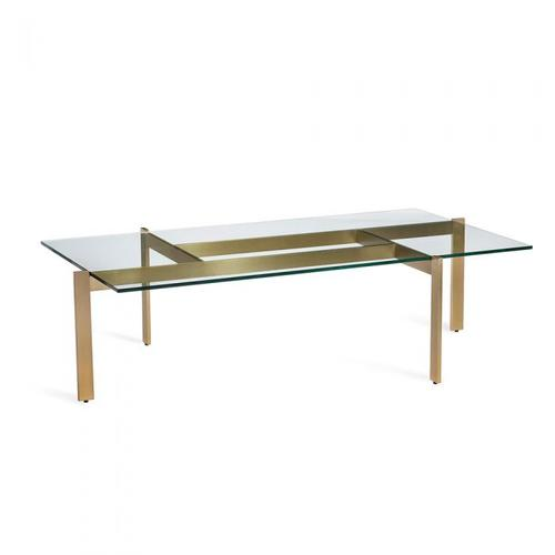 Luc Cocktail Table - Brushed Brass