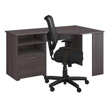 Cabot Corner Desk and Chair Set - Heather Gray