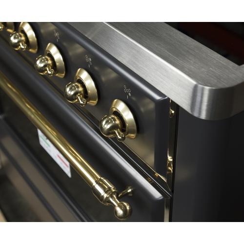 36 Inch Matte Graphite Electric Freestanding Range