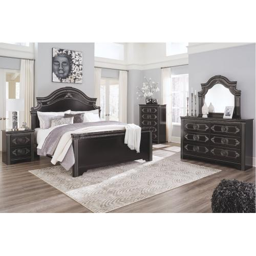 Banalski King Panel Bed
