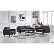 See Details - 8121 3PC DARK GRAY Linen Stationary Basic Living Room SET