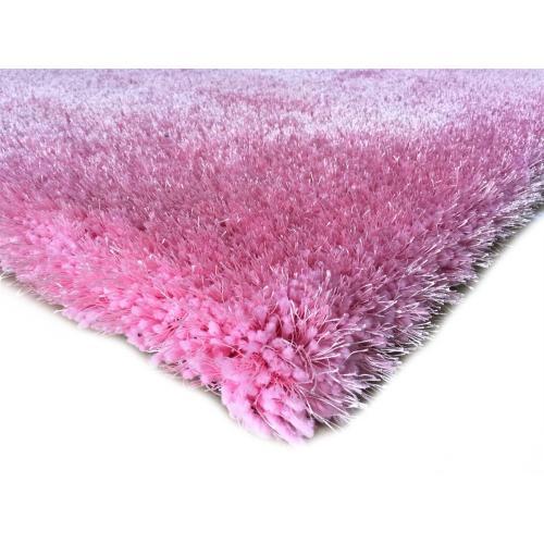 Shaggy Viscose Solid S.V.S. - Pink / 2' x 8'