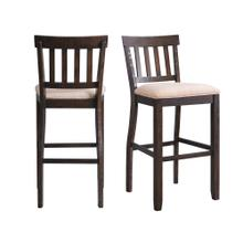 "Stone 30"" Slat Back Bar Stool Set"