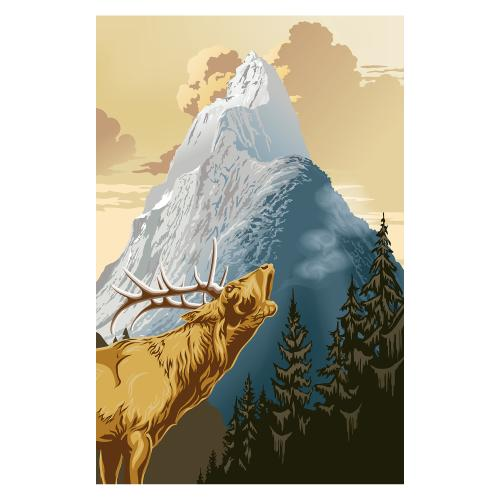 Regal Reflections - King of the Mountain - Giant Art
