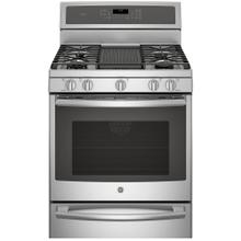 "GE Profile 30"" Gas Freestanding Convection Range with Warming Drawer Stainless Steel PCGB940ZEJSS"
