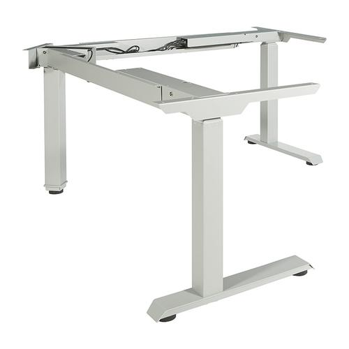 3-stage / 3-motor / 3-leg Electric Height-adjustable Base for L-shape Workstations, Silver
