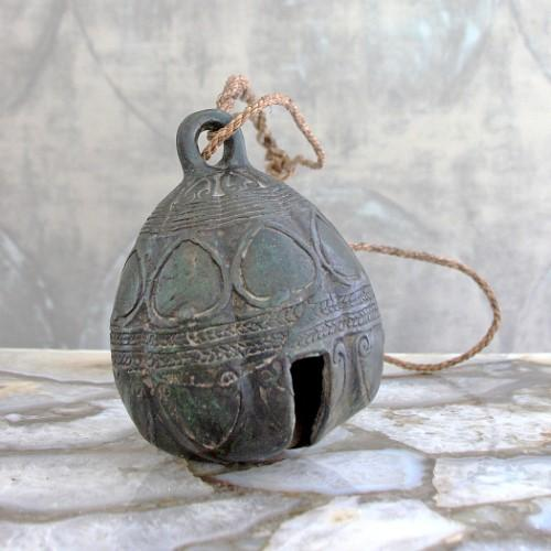 Antique Cambodian Elephant Bell on Stand