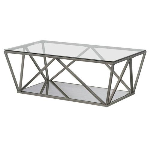 Kendra Cocktail Table, Pewter