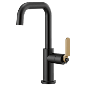 Bar Faucet With Square Spout and Industrial Handle Product Image