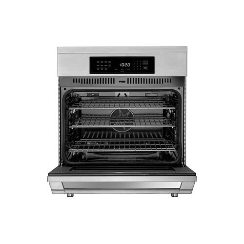 "30"" Induction Pro Range, Bright White, Natural Gas"