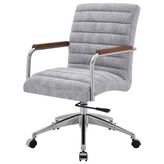 See Details - Tobin KD Fabric Office Chair, Smash Gray