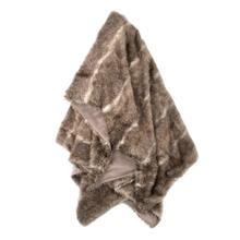 AZTEC THROW- TAUPE CREAM  Faux Fur