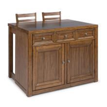 5420-948Q Sedona Brown 3 Piece Kitchen Island Set