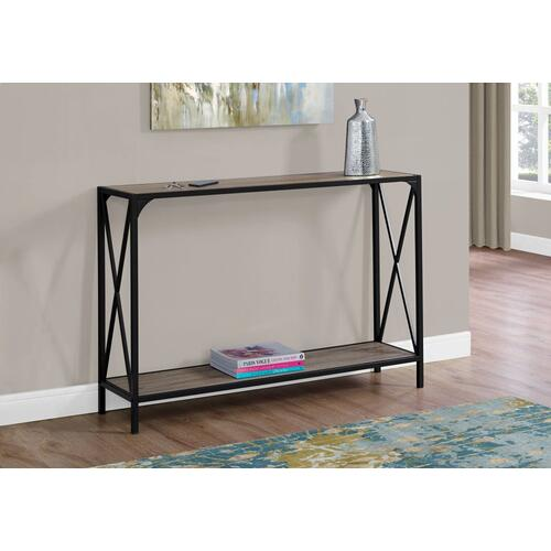 """Gallery - ACCENT TABLE - 48""""L / DARK TAUPE / BLACK HALL CONSOLE"""