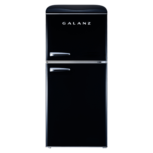 Galanz 4.0 Cu Ft Retro Top Mount Refrigerator in Vinyl Black