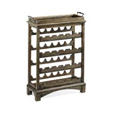 Dark Driftwood Four-Tier Wine Shelf
