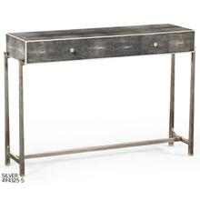Faux anthracite shagreen console with silver base