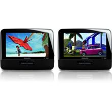 """Philips Portable DVD Player PD7016 17.8 cm (7"""") LCD Dual DVD players"""