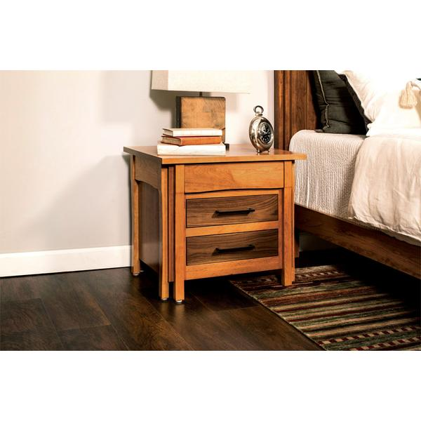 Sheridan Nightstand with Drawers, Extra Wide