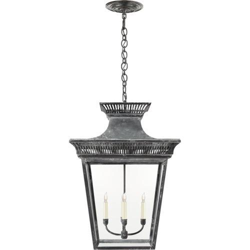 Visual Comfort CHC5052WZ-CG E. F. Chapman Elsinore 4 Light 22 inch Weathered Zinc Hanging Lantern Ceiling Light, Extra Large