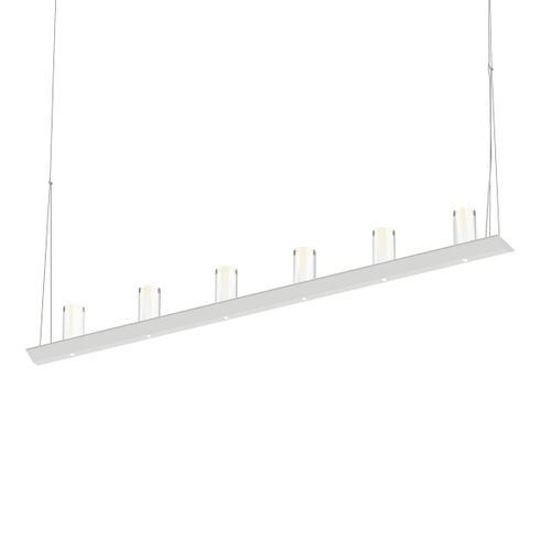 "Sonneman - A Way of Light - Votives LED Bar Pendant [Size=4', Color/Finish=Satin White, Shade Size=4"" height x 2"" diameter]"