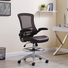 See Details - Attainment Vinyl Drafting Chair in Brown