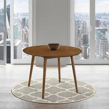"""See Details - Arcadia 42"""" Round Dining Table in Walnut Wood"""