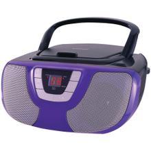 See Details - Portable CD Radio Boom Box (Purple)