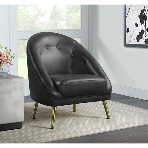 Elements - Trinity Chair W/Gold Legs In Phoenix Magnetite (ISTA 3 Packaging)