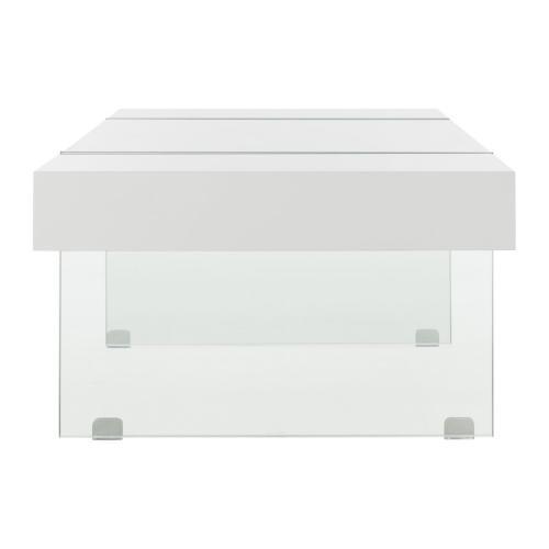 Safavieh - Jacob Rectangular Glass Leg Modern Coffee Table - White