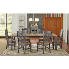 7 PIECE SET (TABLE, 4 SIDE CHAIRS AND 2 ARM CHAIRS)