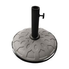 25-Pound Resin Compound Umbrella Base - Steel Grey