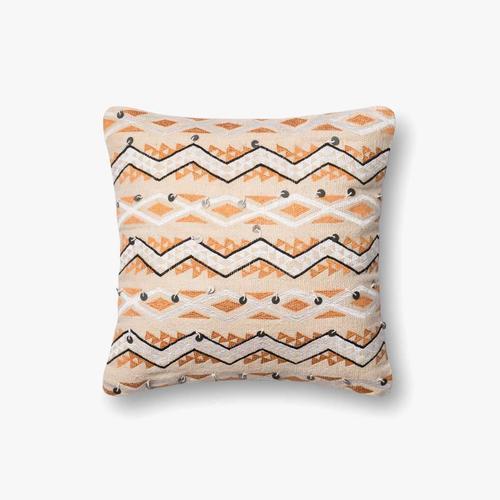 P0401 Orange / Ivory Pillow