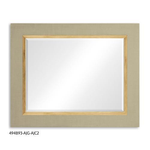 """""""Homespun"""" mirror (Blanc/Gold)"""