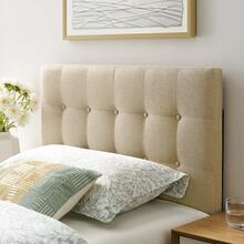 View Product - Emily Twin Upholstered Fabric Headboard in Beige