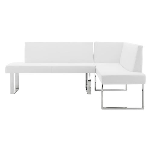 Amanda 3 Piece White Rectangular Dining Set
