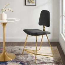 Ponder Performance Velvet Counter Stool in Black