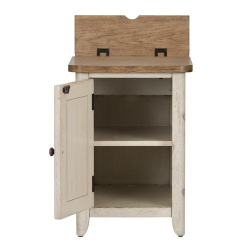 Liberty Furniture Industries - Door Chair Side Table w/ Charging Station