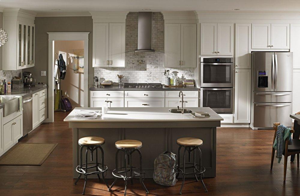 Wvw75uc0ds Kitchenaid 30 Modern Glass Wall Mount Range Hood Stainless Steel Stainless Steel Good Deals Appliances
