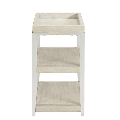 Lilly - Tray-top Chairside Table - Champagne Finish