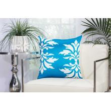 "Outdoor Pillows As065 Turquoise 20"" X 20"" Throw Pillow"