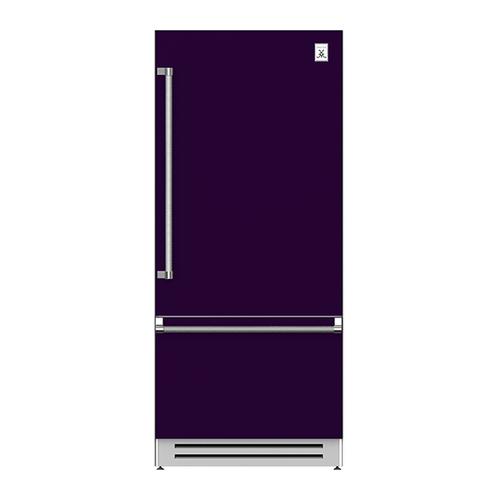 "Hestan - 36"" Bottom Mount, Bottom Compressor Refrigerator - KRB Series - Lush"