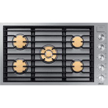 "36"" Gas Cooktop, Silver Stainless Steel, Natural Gas"