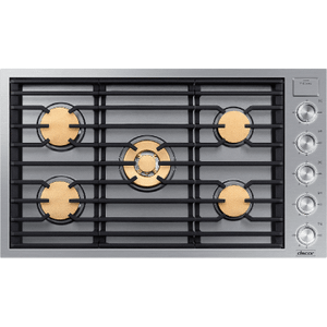 "Dacor36"" Gas Cooktop, Silver Stainless Steel, Natural Gas"