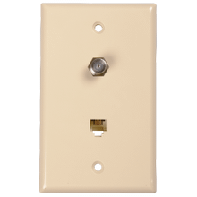 RG6 RG59 Coaxial Cable and Phone Wall Plates