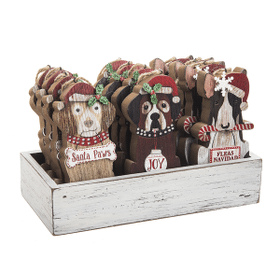Dogs Ornaments in Crate (12 pc. ppk.)