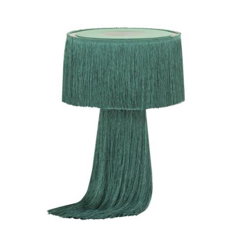 Product Image - Atolla Emerald Tassel Table Lamp