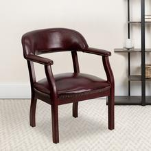 View Product - Oxblood Vinyl Luxurious Conference Chair with Accent Nail Trim