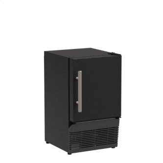 14-In Low Profile Compact Crescent Ice Machine with Door Style - Black Solid