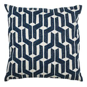 Chauncy Pillow - Navy/white